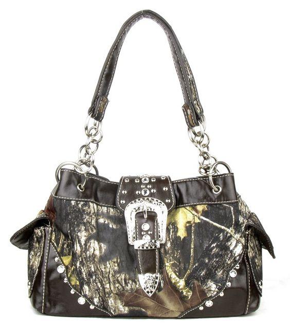 Brown Camouflage Rhinestone Handbag Only $44. One of my ...