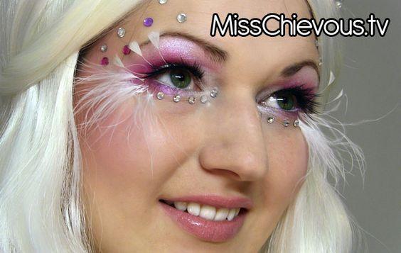 MissChievous.tv: Good vs. Evil: Angel Halloween Look: Fantasy Makeup, Halloween Costumes, Halloween Makeup, Evil Angel, Makeup Addiction, Angel Makeup, Angel Eyes, Halloween Ideas