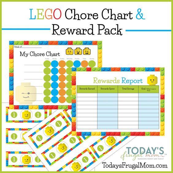free printable lego chore chart: