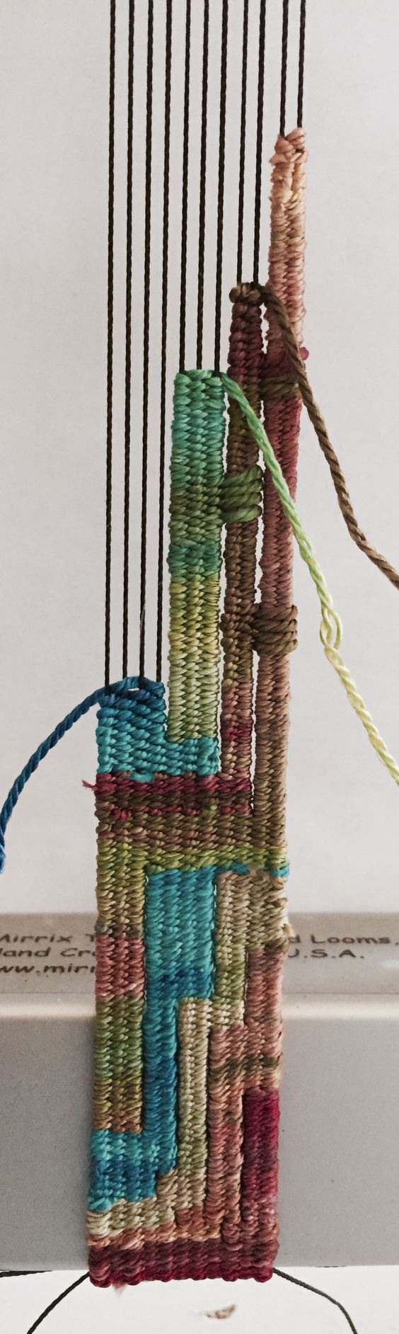 Hand-painted silk on a Mirrix Looms