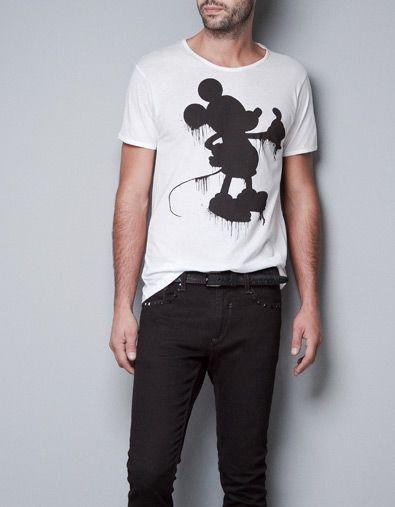 MICKEY T-SHIRT - T-shirts - Man - ZARA Denmark 179.-