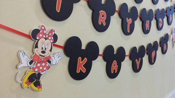 Mickey y Minnie Banner por EccentricDesigns102 en Etsy