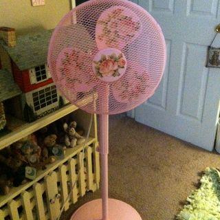 This Was A Plain White Plastic Floor Fan That Was Pretty