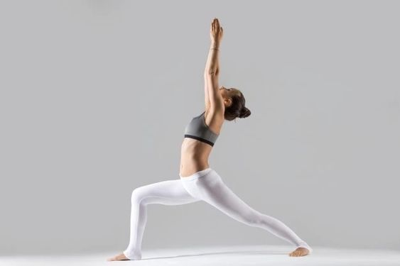 Warrior One pose (Virabhadrasana One) Credit: Freepik