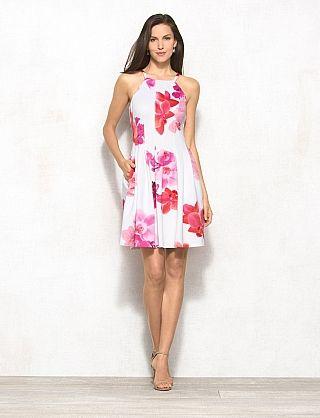 White &amp- orchid halter dress - Summer Fashion - Pinterest - Halter ...