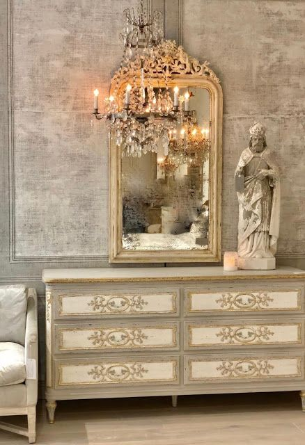 French country bedroom decor. GustavusSwedish decor inspiration, French and Gustavian Design Style from Eloquence. #swedish #interiordesign #frenchcountry #gustavian #nordic #decoratingideas #whitedecor #eloquence #furniture