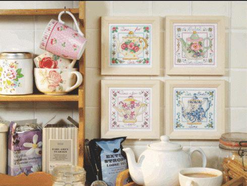 Stitch a pretty teapot! | Cross Stitching