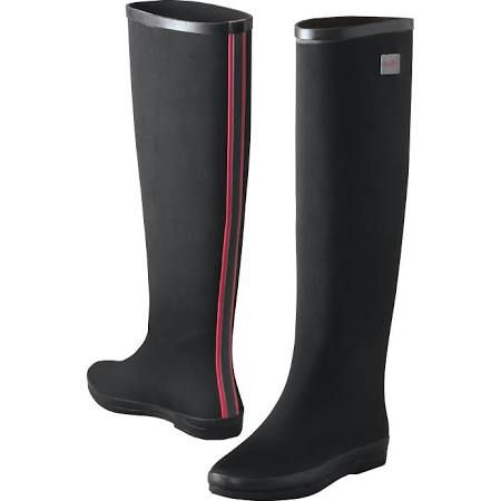 dav Fabric Rainboots Pink Stripe 11 - TravelSmith