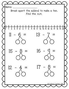 Subtraction Worksheets : subtraction worksheets using number bonds ...