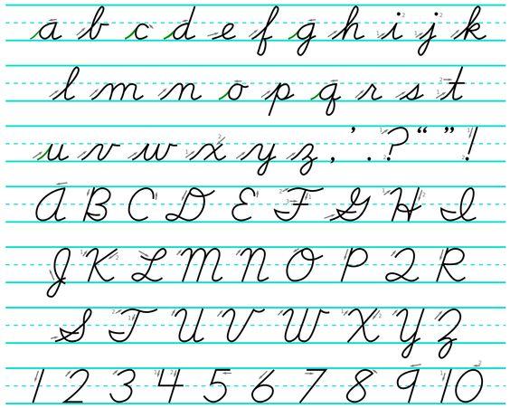 schreibschrift alphabet schreibschrift and