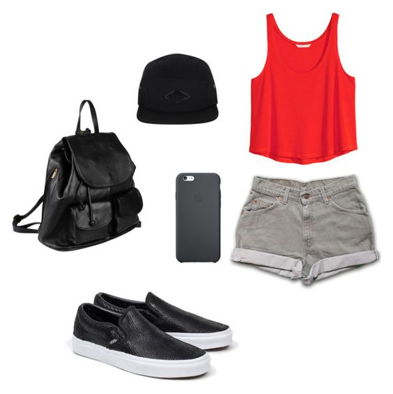 """""""fashion"""" by juliatabola ❤ liked on Polyvore featuring H&M, Vans and PARENTESI"""