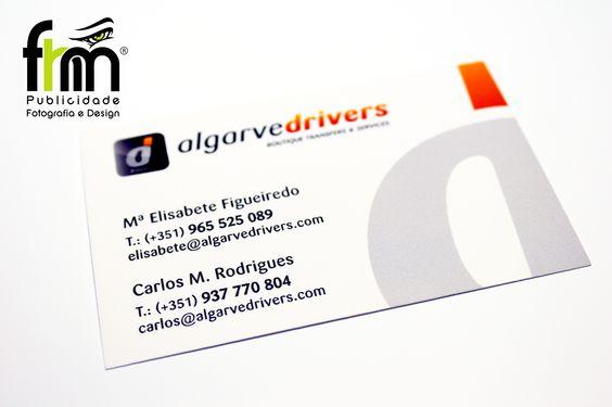 Cartões Comerciais. Cliente: Algarvedrivers - Porches