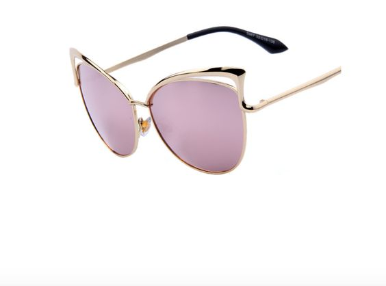 Luxury Cat Eye Alloy Frame Sunglasses
