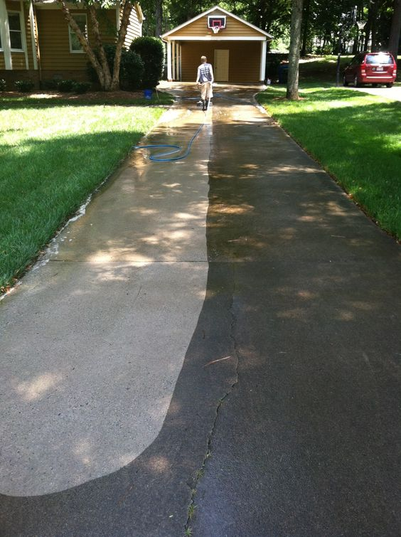 Pinterest the world s catalog of ideas for Bleaching concrete driveway