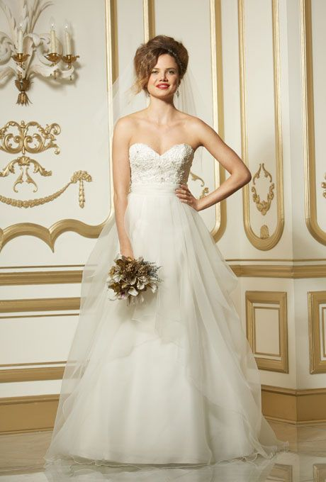 Wtoo wedding dresses layered skirt and beaded lace on for Wedding dress to hide pregnancy