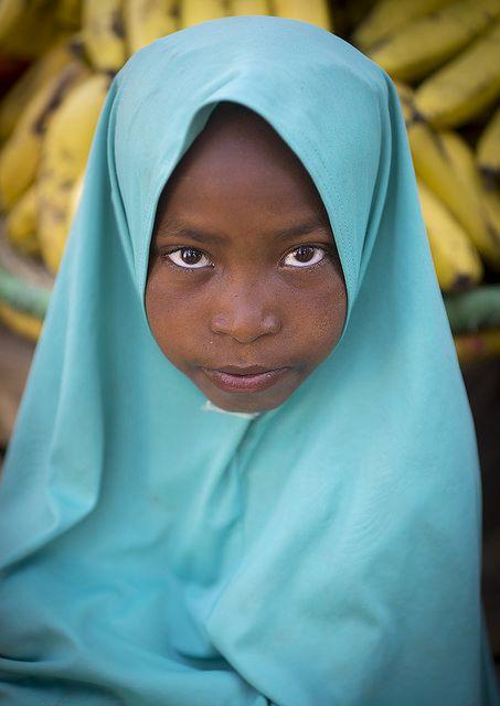 Muslim Girl With A Veil, Harar, Ethiopia