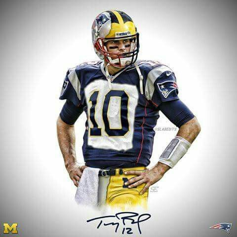Tom Brady Michigan Patriots Michigan Sports Tom Brady Michigan Sports