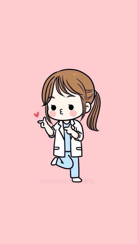 Pin By Mina On Illustrations In 2020 Medical Wallpaper Nursing Wallpaper Cartoon Wallpaper