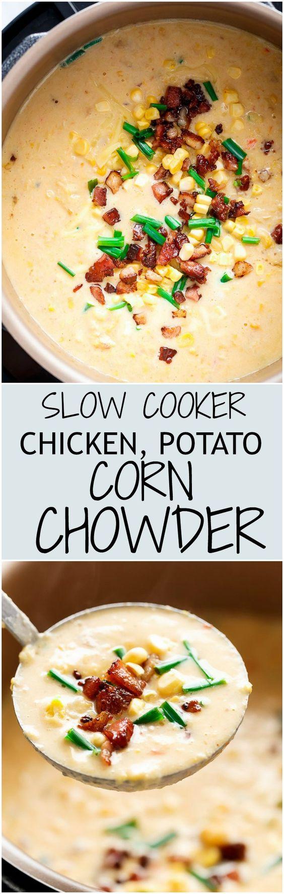 Potato corn chowder, Chicken potatoes and Corn chowder on Pinterest