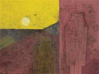 Dos hombres en un paisaje By Rufino Tamayo ,1977