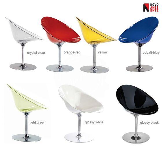 A Cadeira Eros de Philippe Starck para a Kartell.