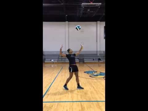 Skilled Slow Motion Volleyball Serve Volleyball Serve Volleyball Skills