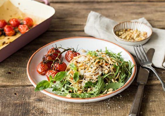 Recept: Spaghetti aglio olio met grana padano en pijnboompitten