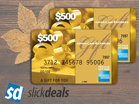 Win A 500 Amex Gift Card From Slickdeals Gift Card American Express Gift Card Prepaid Gift Cards