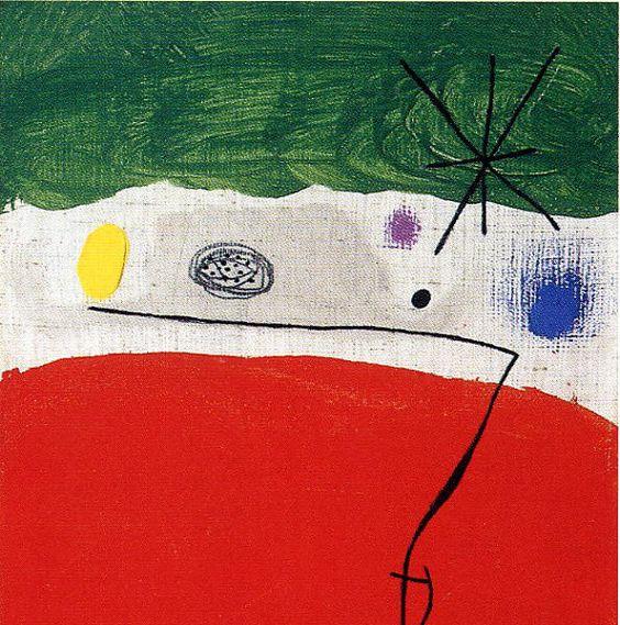 Bird in the night-- Joan Miró