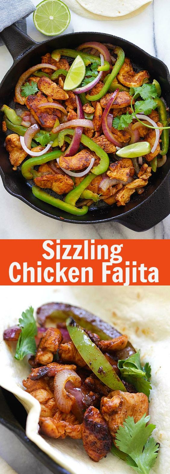 Sizzling chicken fajita best and easiest homemade chicken fajita sizzling chicken fajita best and easiest homemade chicken fajita on a skillet so flavorful and so much better than mexican restaurants rasamal forumfinder Gallery
