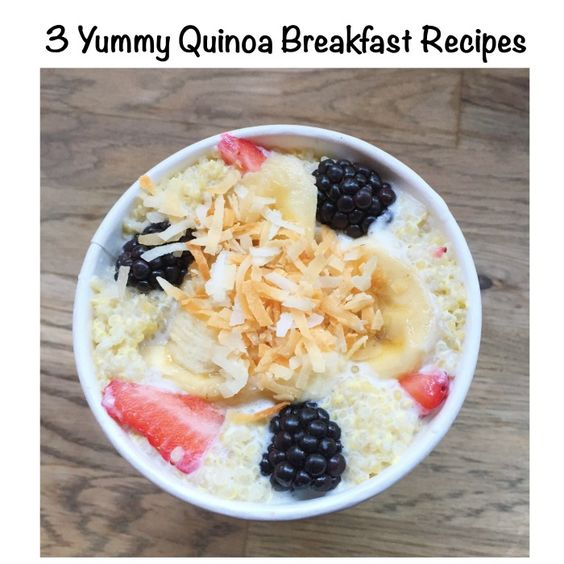 I always thought of quinoa as a savory dish. Something to be used as a rice alternative, but this week I tried quinoa for breakfast as an oatmeal alternative an