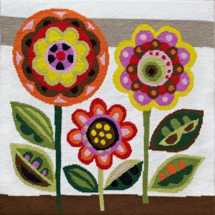 Flowers tapestry kit by Emily Peacock