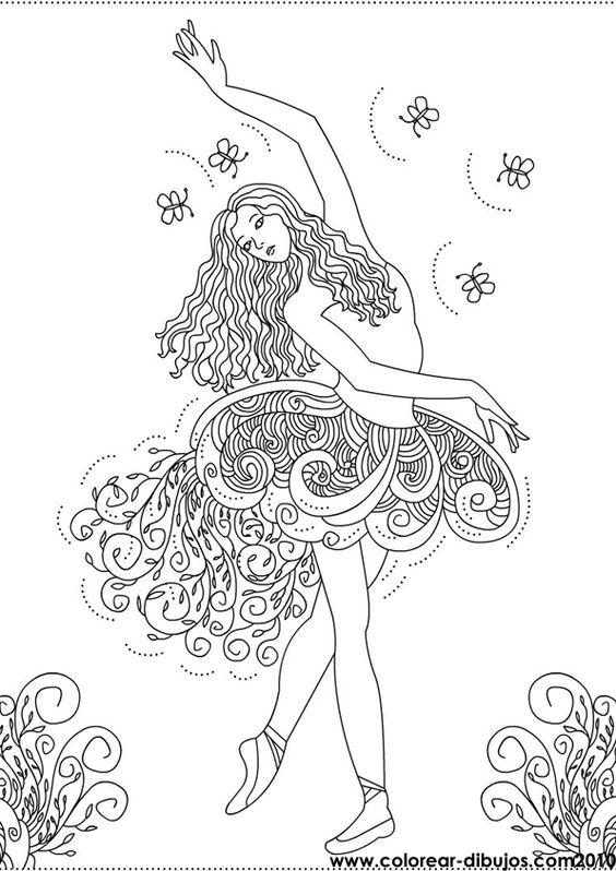 Dibujos De Bailarinas Para Colorear Bailarina