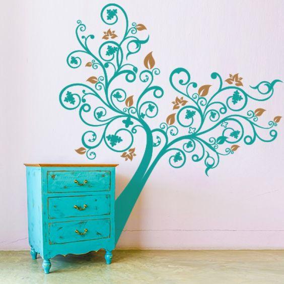 Arbusto di Primavera, 39,90 euro http://www.adesivimurali.com/stickers-alberi/01209-l-albero-della-fantasia