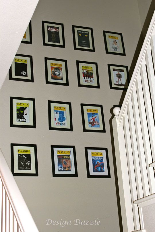 Design Dazzle: Playbills As Wall Art!