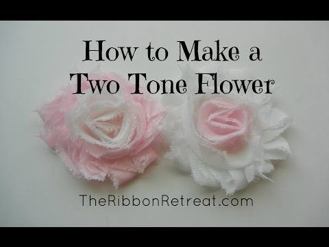 ▶ How to Make a Two Tone Shabby Chiffon Flower - TheRibbonRetreat.com - YouTube