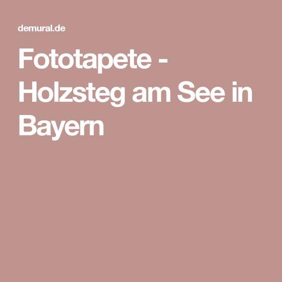 Fototapete - Holzsteg am See in Bayern