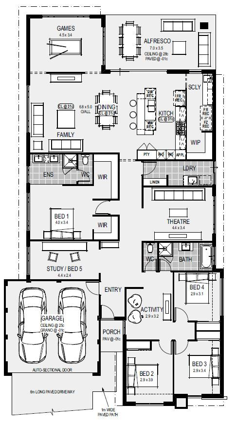 The Naples Floorplan I Like The Placement Of The 3 Bedrooms Their Bathroom Home Design Floor Plans Dream House Plans House Blueprints