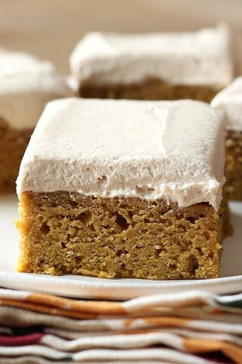 Pumpkin Bars with Brown Sugar Frosting Recipe on Yummly. @yummly #recipe