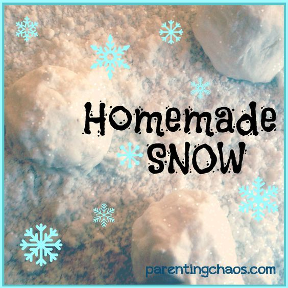 Homemade fake snow recipe sodas and