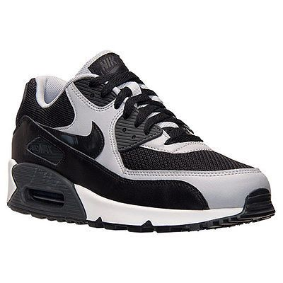 Nike Air Max 90 Essential Mens 537384-053 Black Wolf Grey Running Shoes Size 10