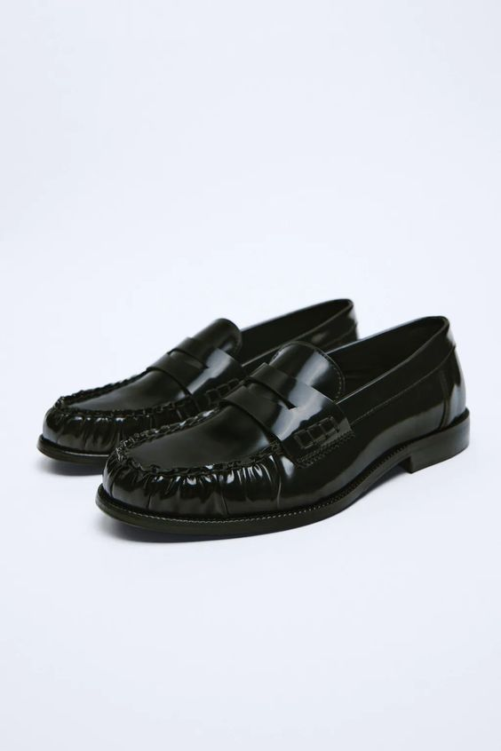 Leather penny loafers £69.99