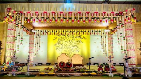South Indian Wedding Decoration Google Search Wedding Hall Decorations Indian Wedding Decorations Mandap Decor