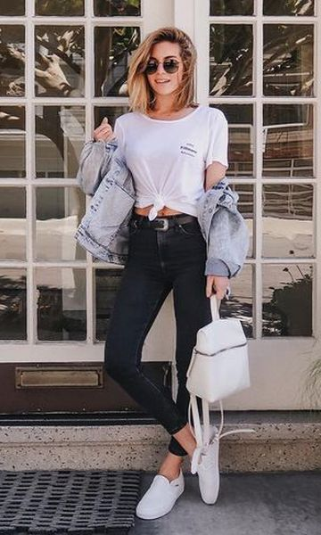 Look Jaqueta Jeans + Calça Skinny