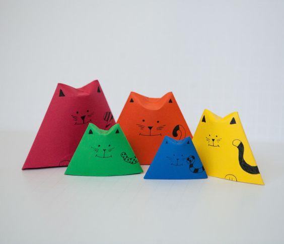 l 39 origami une activit parfaite pour se d tendre ces pliage de petits chats sont vraiment. Black Bedroom Furniture Sets. Home Design Ideas