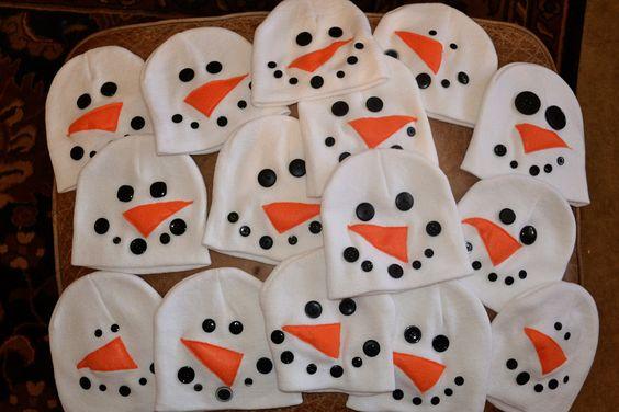 Snowmen Beanie- one size fits all. $10.00, via Etsy.