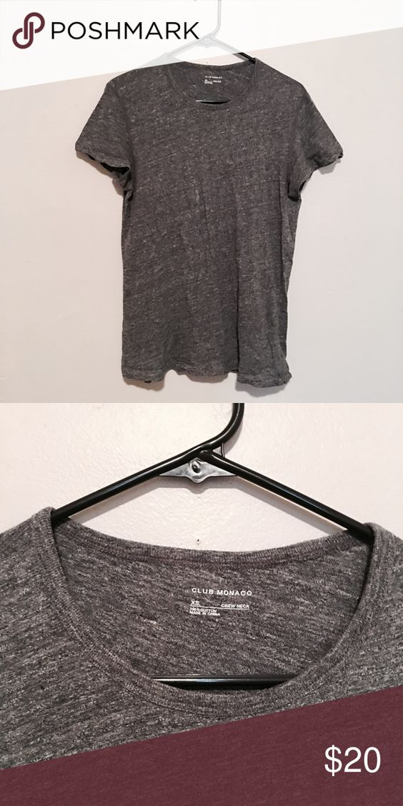 Club Monaco crew neck tee Club Monaco / Size: men's xs / Grey crew neck tee / Worn once and in new condition Club Monaco Shirts Tees - Short Sleeve