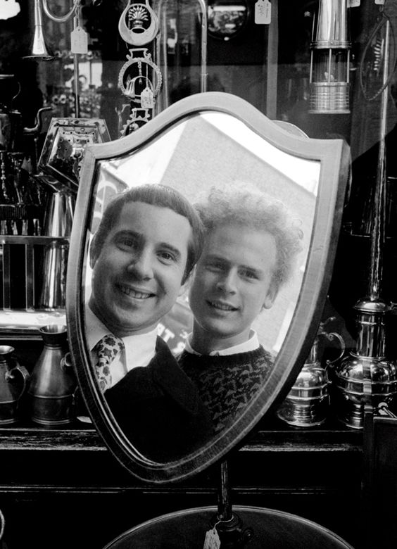 Paul Simon, left, and Art Garfunkel, London, October 1966.