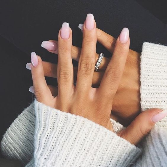 25 Amazing Easy Nail Art Ideas Nail Art Designs Ideas 2020 Styles Weekly Pale Pink To White Ombre In 2020 Short Square Acrylic Nails Simple Nails Pink Nails