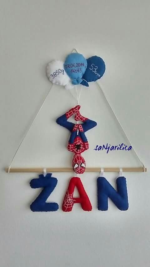 Felt spiderman name banner https://www.facebook.com/sanjarilica